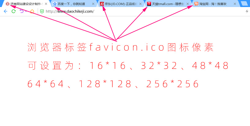 浏览器标签favicon图标